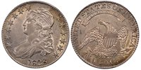1828 50C Square 2, Small 8, Large Letters O-121 Capped Bust Half Dollar PCGS AU55
