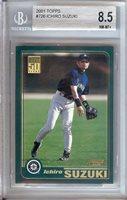 Ichiro Suzuki 2001 Topps RC Rookie Card Graded BGS 8.5 NM-MT+ Mariners #726