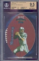 1998 playoff contenders leather #37 PEYTON MANNING rookie BGS 10 9.5 Graded Card
