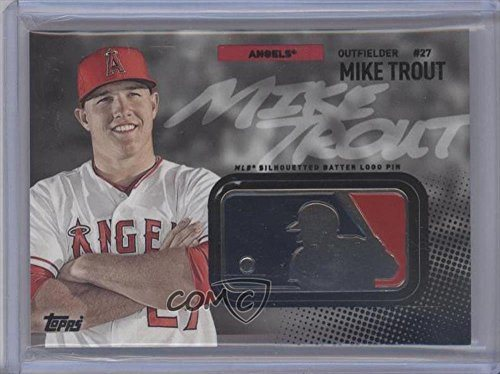 Mike Trout Baseball Card 2015 Topps Mlb Silhouetted Batter Logo Pin Manufactured Relic Msbl 08
