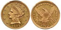 1897 $2.50 Liberty Head Quarter Eagle PCGS MS64 (CAC)