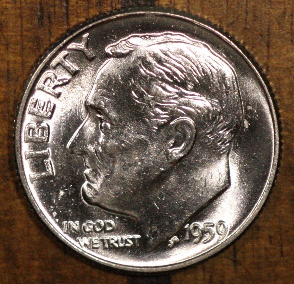 2011-P ROOSEVELT DIME BU OUT OF BANK ROLLS US COIN