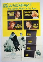 1959 'BUT NOT FOR ME' MOVIE POSTER; CLARK GABLE; ELLA FITZGERALD; GERSHWIN