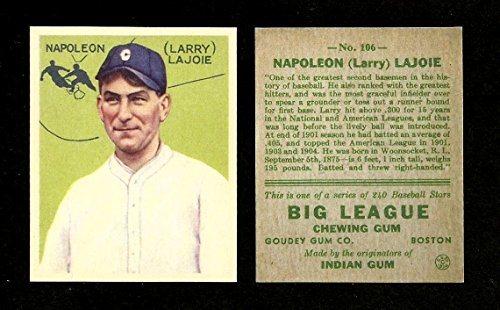 Nap Lajoie 1934 Goudey 106 Reprint Card Original Back