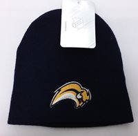 Buffalo Sabres NHL Youth Navy Winter Fitted Cuffless Knit Beanie Hat Cap 4-7 Yrs