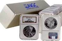 1988 - Silver Eagle Brown Label Dollar MS69 NGC