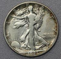1921 S Walking Liberty Half Dollar VG Details – Key Date