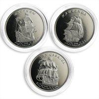 Gilbert Islands set of 3 coins Ships 2015
