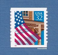 Scott #2915A Flag over Porch 32c (Self-Adhesive Coil Single)1996 Mint NH