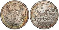 DANZIG 1923 AR 2 Gulden PCGS MS66 KM 146.