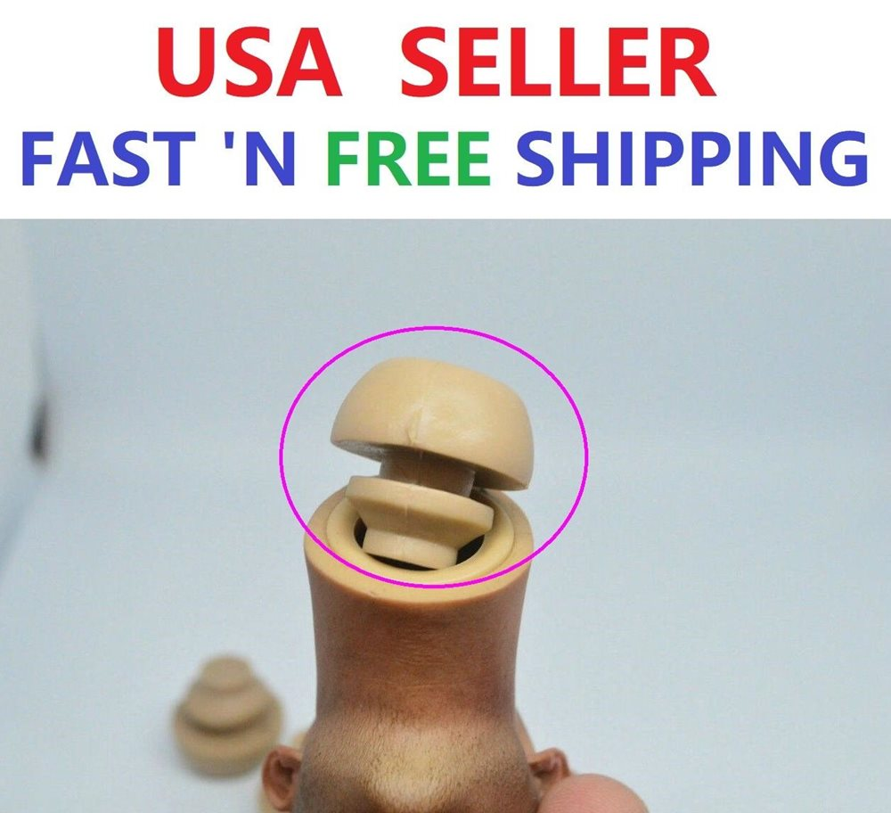 1//6 Neck Peg Joint with Neck Adapter For Hot Toys Male Figure Head SHIP FROM USA
