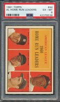 1961 Topps #44 AL Home Run Leaders PSA EX-MT 6 *8538