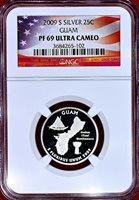 2009-S GUAM CLAD PROOF QUARTER 25C NGC PF70 ULTRA CAMEO