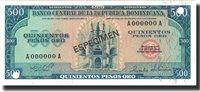 500 Pesos Oro Dominican Republic Banknote, 1975, Specimen, Km:114s