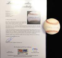 Mickey Mantle Single Signed OAL Rawlings Baseball PSA/DNA Grade 8.5 (Auto Grade 9, Baseball Grade 8)