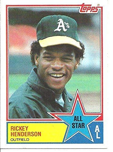 Vintage Rickey Henderson National League All Star Collectible Baseball Card 1983 Topps Baseball Card 391 Oakland Athletics Free Shipping