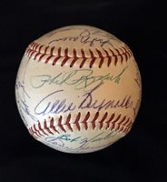 1954 N.Y. Yankees Team Signed Baseball w/ Mantle, Berra, Ford & Others (PSA/DNA)
