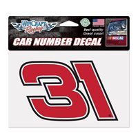 Ryan Newman 2017 Wincraft #31 Car Number Decal 7 x 4.75 FREE SHIP!