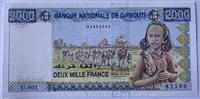 2000 franc 1997 Djibouti Paper