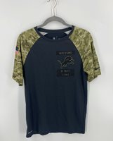 Nike NFL On Field Apparel Mens Shirt Size Small Gray Camo Salute to Service Army