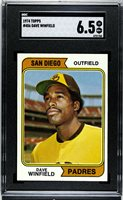 GRADED 1974 Topps #456 Dave Winfield SGC EX-NM+ 6.5 San Diego Padres