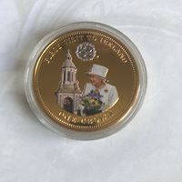 2014 PROOF TDC THE CROWNING MOMENTS - FIRST VISIT TO IRELAND 24CT GOLD PLATED