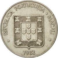 Coin, Macau, Pataca, 1982, Singapore Mint, EF(40-45), Copper-nickel, KM:23.1