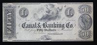 Canal & Banking Co. $50 New Orleans Louisiana Remainder Note LA 1570-50