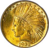 1932 $10 PCGS MS62