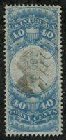Scott R114 1871-72 40c blue black cut cancel, F-VF