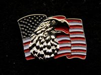 BALD EAGLE USA FLAG  LAPEL HAT PIN  UP US ARMY MARINES NAVY AIR FORCE USCG GIFT