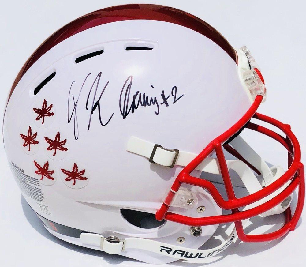 half off 20404 fc13a Memorabilia PSA/DNA Ohio State Buckeyes Jk Dobbins Autographed Signed  Chrome Football HelmetCUSTOM FRAME YOUR JERSEY