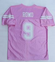 release date: 2ac3a 0bc1e NWT TONY ROMO 9 Dallas Cowboys Jersey Pink Youth Girls/Jr Womens Sz L 34/36