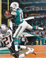 JAKEEM GRANT MIAMI DOLPHINS ACTION SIGNED 8x10
