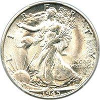 1945 S Walking Liberty Halves Half Dollar MS66 PCGS