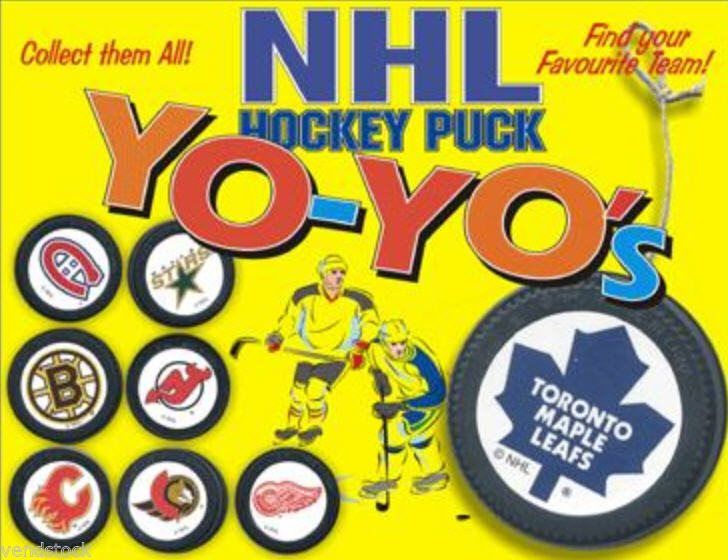 Nhl Hockey Two Sided Mini Goalie Puck Yo Yos Gifts Cake Toppers Retired