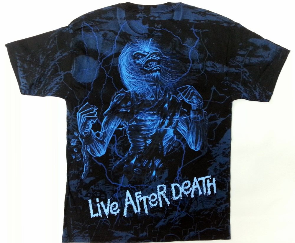 IRON MAIDEN LIVE AFTER DEATH T SHIRT EDDIE METAL OFFICIAL LICENSED