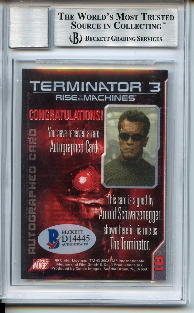 2003 Terminator 3 Arnold Schwarzenegger Rise of the Machines Auto BAS BGS  /300