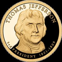 2007 Thomas Jefferson D Dollar Roll From Bag Uncirculated Mint or Bank BU