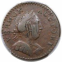 1787 Vermont CopperBust Right, Ryder-12AU50 [PCGS Gold Shield]