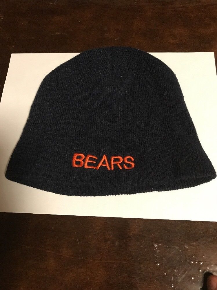 Chicago Bears Pre-owned Knit Beanie Winter Hat Toque Sk 68f16dd0e