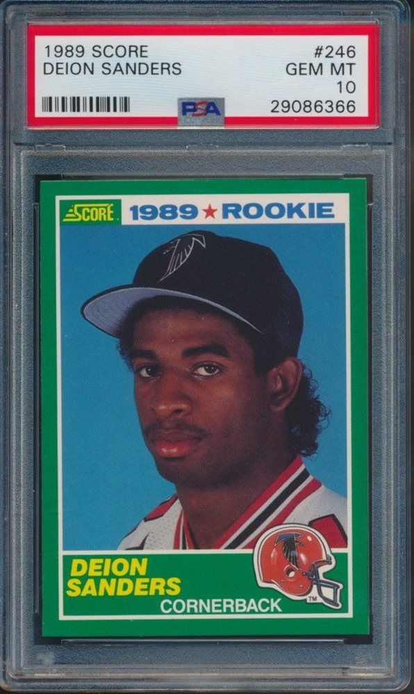 1989 Score Football Deion Sanders Rookie Card 246 Psa 10 Gem Mint 6366