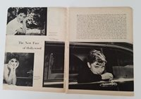 1954 new face Hollywood Audrey Hepburn Joanne Gilbert magazine clipping ad