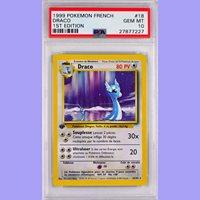 Edition 1 Gem Mint Draco 18//102 Set De Base