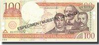 100 Pesos Oro Dominican Republic Banknote, 2001, Specimen, Km:167s2