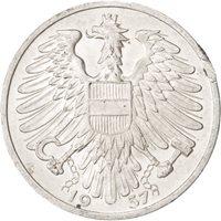 Austria, Schilling, 1957, MS(63), Aluminum, KM:2871