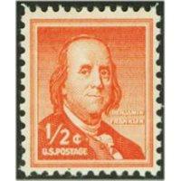#1030a Benjamin Franklin, Dry Printing