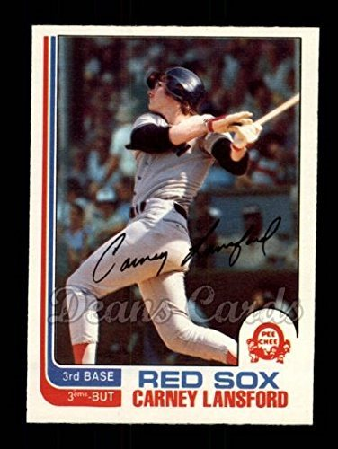 1982 O Pee Chee 91 Carney Lansford Boston Red Sox Baseball Card Deans Cards 7 Nm