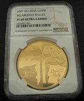 Belarus 2007 Gold 1 oz 200 Roubles NGC PF69UC Belarusian Ballet