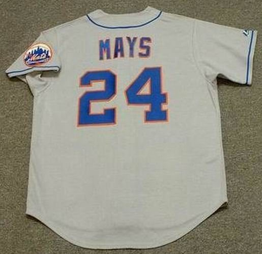 new style 2c1be 8cadd WILLIE MAYS New York Mets 1973 Majestic Cooperstown Away Baseball Jersey